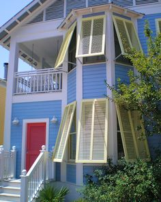 Seaside, Florida - great colors- and I love the Bahama Shutters