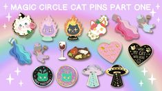 A set of Cat themed enamel pins that I will be taking with me to CatCon 2018!
