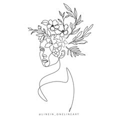 Line Drawing Images, Cool Art Drawings, Abstract Flower Tattoos, Jasmine Flower Tattoos, Butterfly Sketch, Art Minimaliste, Abstract Face Art, Outline Art, Line Art Tattoos