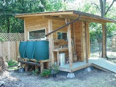 """See our website for even more details on """"rainwater harvesting system"""". It is a great area to learn more. Log Cabin Designs, Water Waste, Water Collection, Rainwater Harvesting, Water Garden, Farm Life, Garden Inspiration, Organic Gardening, Pergola"""