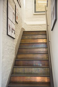 Rupert Bevan Showroom Staircase in Patinated Brass  Staircase  Architectural Details by Rupert Bevan Ltd