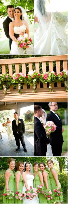 A Charming Pink and Green Wedding - Colors