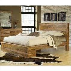 Modus Furniture Atria 5 Piece Bedroom Set in Natural Sheesham - 5C40-5PKG