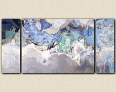 """Out of the Blue"" Large modern art canvas print from abstract art by FinnellFineArt, $375.00"