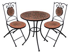 Mosaic Bistro Table Sets | Mosaic Bistro Set : Garden Gifts | Mosaic/ideas  | Pinterest | Gardens, Gifts And Mosaics