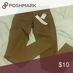 Taupe high waist jeggings Brand new. Very soft materiAl. Rue 21 Pants Skinny