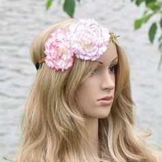 Big Clove Flower Crown Wianki Elasticity Headband Hairband Wedding Hairstyles Floral Crowns Fairy Wedding Photography Women #WeddingHairstyles