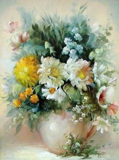 by Szechenyi Szidonia (artist) Beautiful Flower Quotes, Beautiful Flowers, Arte Floral, Quilling Flowers Tutorial, Hyper Realistic Paintings, Still Life Flowers, Fruit Painting, How To Preserve Flowers, Colorful Paintings