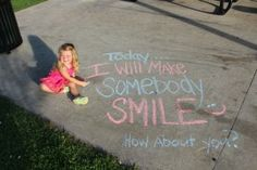 Should do this everyday, making someone smile counts as a random act of kindness!