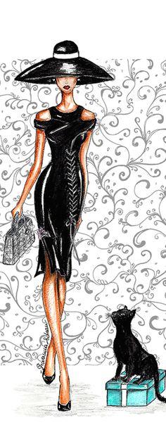 ♔ i l l p o p {fashion illustration} Audrey-Hepburn-Glamour-Tiffany