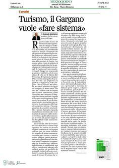 Corriere del Mezzogiorno Economia  29-04-2013, #garganodmo @Open.South Project @atavoladauni @Confcommercio Foggia #atavolaconidauni
