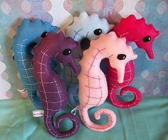 Felt Seahorses. Sold out.