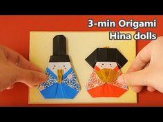 折り紙 お雛様の作り方 Origami Hina dolls instructions - YouTube