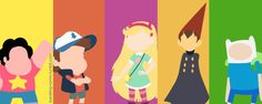 Steven universe, different, Gravity Falls, fandom, Star vs Force of Evil, Over The Garden Wall, adventure time, adventure time, Steven, Dipper Pines, GF Characters, Star Butterfly, Wirt