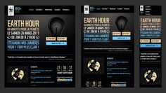 Responsive Web Design Earth Hour