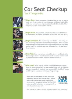 Here are the steps to properly check your car seat.