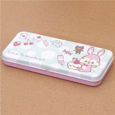 cute bunny sweets pencil case tin case 2