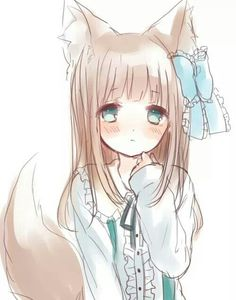 Newest For Adorable Cute Anime Wolf Girl Drawings