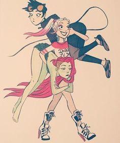 Harley Quinn Catwoman Poison Ivy Gatúbela Hiedra Venenosa Suicide Squad Gotham Sirens
