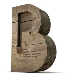 Premi 'Paco Bascuñán' Trofeo al diseño tipográfico. Madera ADCV. ©2010