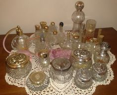 a small selection of some of my AVON perfumes bottles