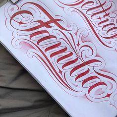 Calligraphy Fonts Alphabet, Tattoo Fonts Cursive, Font Art, Tattoo Script, Tattoo Lettering Design, Chicano Lettering, Graffiti Lettering, Name Tattoos, Body Art Tattoos
