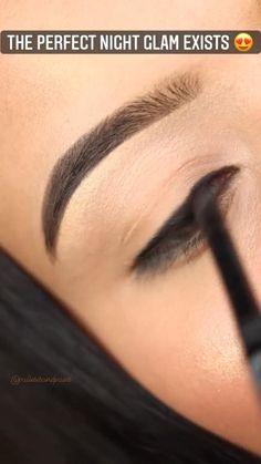 Smoke Eye Makeup, Eye Makeup Steps, Makeup Eye Looks, Eye Makeup Art, Eyeshadow Looks, Eyebrow Makeup, Skin Makeup, Eyeliner, Casual Eye Makeup