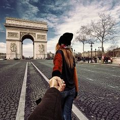 #followmeto the Arc de Triomphe with @yourleo in Paris. By the way does anyone know a great rooftop close to the Eiffel Tower?