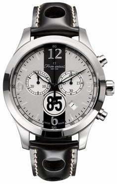 Fromanteel 85-0302-005 85 Rally silver chronograph watch rally black