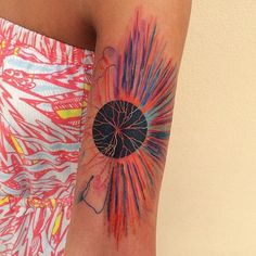 watercolor abstract tattoo - 60 Mind Blow Abstract Tattoos