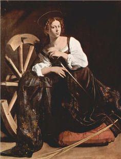 Saint Catherine of Alexandria - Caravaggio