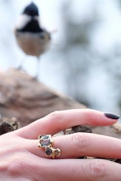 Custom Blair Lauren Brown Diamond Engagement Ring
