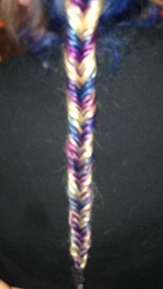 Blurry but blue/purple/blonde fishtail :)