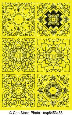 Thai pattern graphic - csp8453458