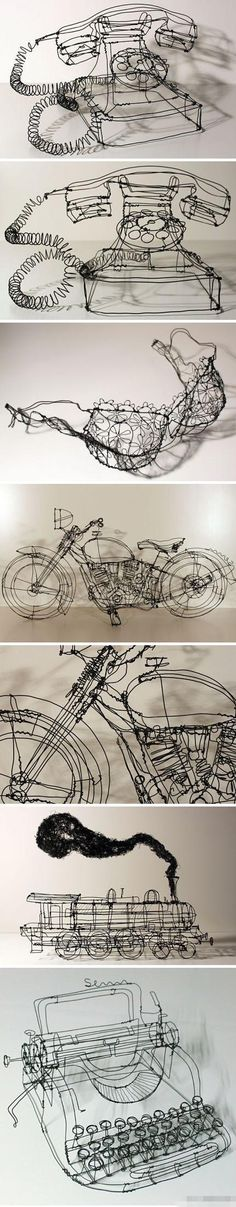 3D art made from iron by German artist Martin Senn. love the lines and shape.