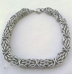 Stainless Steel Trizantine Chain Maille Bracelet USA Chainmaille Chain Mail | eBay