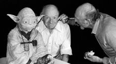 I love this picture. Stuart Freeborn and Yoda having their makeup done by Irvin. pic.twitter.com/OsRfP7866O
