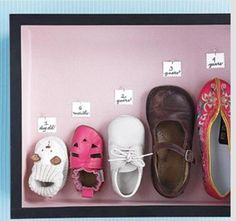 Shadow box for saving tiny adorable baby shoes;)