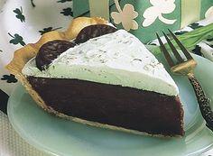 Minty Irish Chocolate Cream Pie