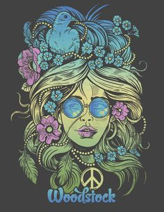 It's Fan Art Friday! This one comes to us from Derrick Castle Submit your Woodstock fan art using and we'll repost some of our favorites! Psychedelic Art, Hippie Style, Woodstock Poster, Flower Power, Hippy Art, Plakat Design, Estilo Hippie, Happy Hippie, Hippie Peace