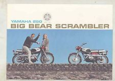 1966 1967 1968 Yamaha Big Bear Scrambler YDS3C Motorcycle Brochure wv7287