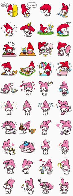 Muchas de vosotras habéis pedido los stickers de My Melody. Pues bien, aquí están y vienen con un montón de adorables poses. Creo que me acabo de enamorar...