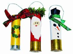 Check out the best cheap, homemade ornaments ohhh I bet the boys will get a kick out of these, plus have fun making the shells empty with some shooting practice!