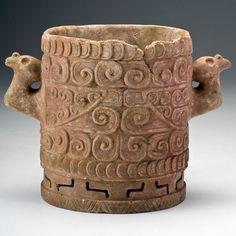 Ulua Valley Maya Marble Condor Vase. Circa 500-800 A.D.