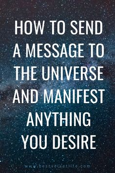 How To Send a Message To The Universe And Manifest Anything You Desire. Positive Affirmations For Success, Prosperity Affirmations, Money Affirmations, Yoga To Relieve Stress, Law Of Attraction Money, Secret Quotes, Law Of Attraction Affirmations, Get What You Want, How To Manifest