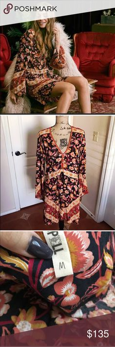 Spell and the Gypsy Lolita playdress Beautiful and in perfect condition! No flaws. Gorgeous colors perfect for the fall season!   ❌ NO TRADES Spell & The Gypsy Collective Dresses