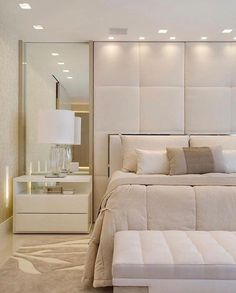32 Gorgeous Bedroom Sets You Definitely Like - A bed is basically used for sleeping and sometimes for relaxing, working, exercising and reading. There are many styles and types of bedroom sets avai. Apartment Master Bedroom, Modern Master Bedroom, Home Bedroom, Bedroom Decor, Master Bedrooms, Master Suite, Master Bathroom, Bedroom Color Schemes, Bedroom Colors