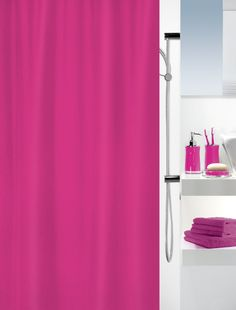 Spirella Primo Pink Shower Curtain Bathroom