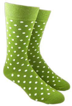 Pivot Dots Socks in Clover (#X028), $8/pair at www.TheTieBar.com