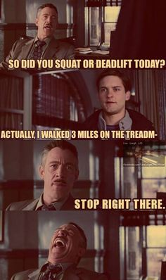 So did you squat or deadlift today? #squat #deadlift #treadmill